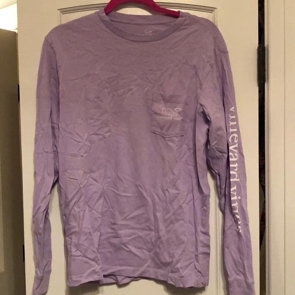 5b2e70a9604b Vineyard Vines Tops | Purple Long Sleeve Tee | Poshmark